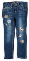 Vigoss Little Girl's Meow Sequin Denim Jeans