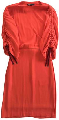 Maje Orange Viscose Dresses