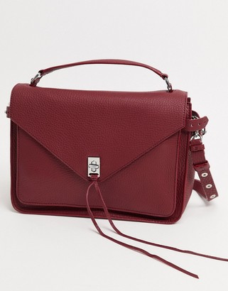 Rebecca Minkoff darren leather messenger bag in red