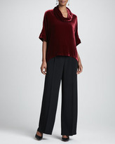 Eileen Fisher Velvet Cowl-Neck Top, Women's