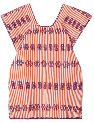 Pippa Holt Kids - No. 15 Embroidered Kaftan - Womens - Orange Multi