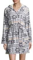 Kensie Graphic Hooded Robe