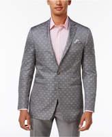 Tallia Men's Big and Tall Slim-Fit Gray Paisley Sport Coat