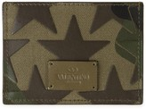 Valentino Camouflage-print Canvas Card Holder
