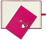 Graphic Image NEW Heart Locked Pink Leather Diary