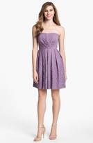 Donna Morgan 'Nicole' Strapless Lace Dress