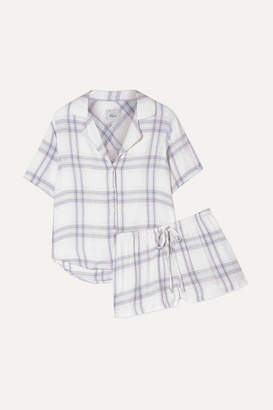 Rails Checked Flannel Pajama Set - Blue