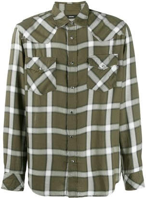 Diesel checked Western shirt