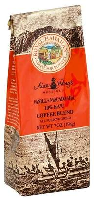 Royal Hawaiian Orchards Royal Hawaiian 10% Ka'U Blend Vanilla Macadamia Medium Roast Ground Coffee - 7oz