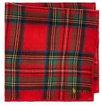 Ralph Lauren Tartan Wool Pocket Square