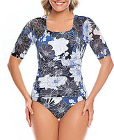 Shape Solver Chelsea Floral Short Sleeve One Piece