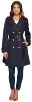 Lauren Ralph Lauren Trench w/ Faux Leather Piping Women's Coat