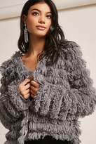Forever 21 Tiered Fringe Open-Front Cardigan