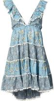 Zimmermann tiered floral mini dress - women - Cotton - 0