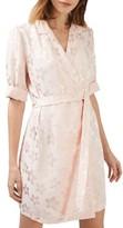 Topshop Women's Floral Jacquard Wrap Dress