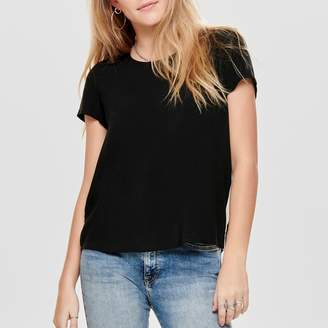 Only Round Neck Blouse with Short Sleeves