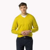 Tommy Hilfiger Luxury Cotton V-neck Jumper