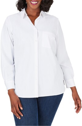 Foxcroft Manhattan Solid Stretch Shirt