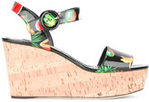 Dolce & Gabbana fruit print wedge sandals - women - Leather/Polyurethane - 36