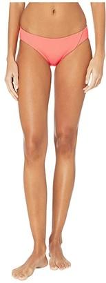 Becca by Rebecca Virtue Fine Line American Fit Bottoms (Living Coral) Women's Swimwear
