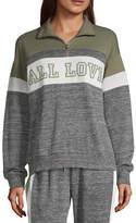 Flirtitude Juniors Womens Long Sleeve Sweatshirt