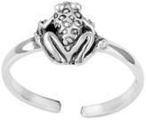 Journee Collection Women's Sterling Silver Frog Adjustable Toe Ring - Silver