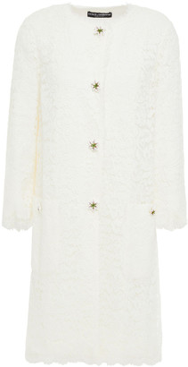 Dolce & Gabbana Button-embellished Corded Lace Coat