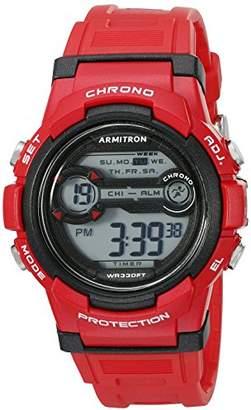 Armitron Sport Unisex 45/7064BRD Digital Chronograph Resin Strap Watch