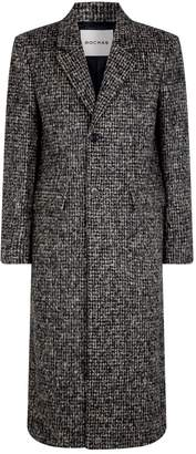 Rochas Check Wool-Blend Overcoat
