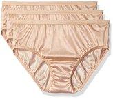 Shadowline Women's Panties-Nylon Hipster (3 Pack)