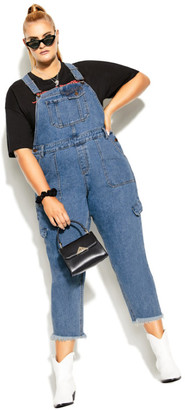 City Chic Wild Overall Jean - denim