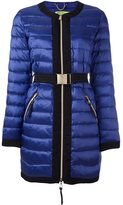 Versace belted puffer jacket