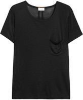 Saint Laurent Silk-jersey T-shirt - Black