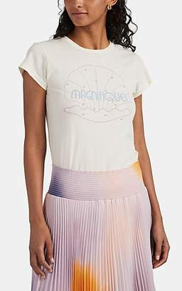 "Monogram Women's Imitation-Pearl-Embellished ""Magnifique"" T-Shirt - Cream"