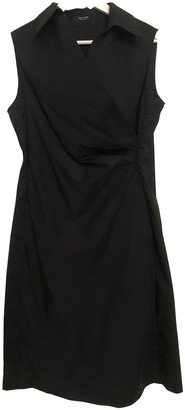 Sand Black Cotton Dress for Women