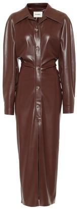 Nanushka Sami faux leather shirt dress