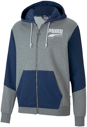 Puma Rebel Block Logo Zip Hoodie
