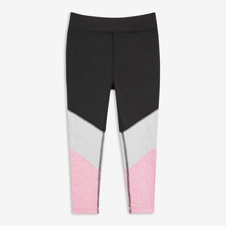 Joe Fresh Toddler Girls' Colour Block Legging, JF Black (Size 2)