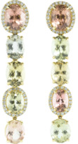 Katherine Jetter Five Drop Pastel Tourmaline And Opal Earrings