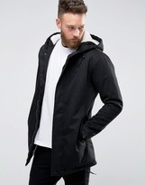 Only & Sons Fishtail Parka With Borg Lined Hood