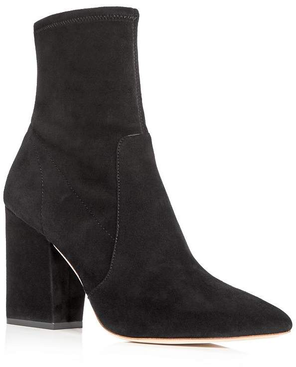 9336cb35944 Women's Isla Suede Pointed Toe Block Heel Booties