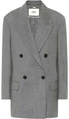Fendi Wool flannel blazer