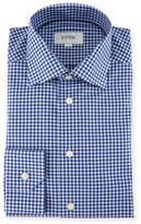Eton Gingham Cotton Dress Shirt
