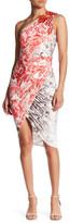 Forever Unique Ivy One-Shoulder Print Dress