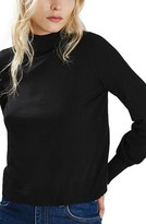 Topshop Blouson Sleeve Mock Neck Sweater