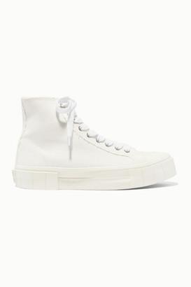 Good News GOOD NEWS - Organic Cotton-canvas High-top Sneakers - White
