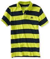 Aeropostale Mens Striped A87 Rugby Polo Shirt L