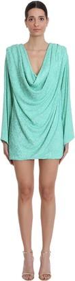 NERVI Carol Dress In Green Polyamide