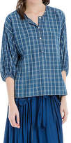 Max Studio Plaid Blue Tunic