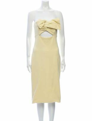 Cushnie Strapless Mini Dress Yellow